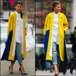 Zendaya Coleman wearing a MIUNIKU coat at New York Fashion Week