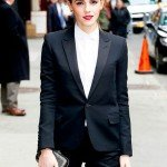 Emma Watson wearing Saint Laurent in New York City