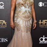 Queen Latifah wearing Badgley Mischka at the Hollywood Film Awards