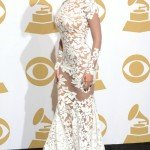 Beyonce wearing Michael Costello at the Grammys