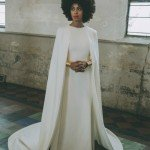 Solange wearing Humberto Leon for Kenzo at her wedding
