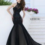 Sherri Hill Pleated Skirt Mermaid Gown 32085