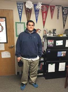 Ombudsman North West student, Inocencio Lorenzo, during his last week at school at Ombudsman's North West campus, 500 N. Harlem Ave.