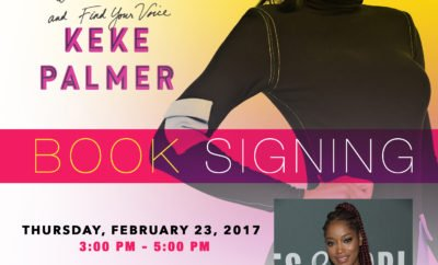 NEW DATE ALERT - KEKE PALMER CHICAGO BOOK SIGNING FLYER